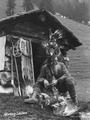 Leo Dorn, the Adlerkönig, with killed eagles 02.png