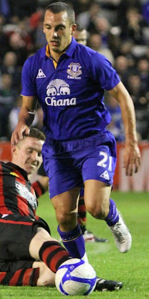 Leon Osman - Osman playing for Everton in 2011