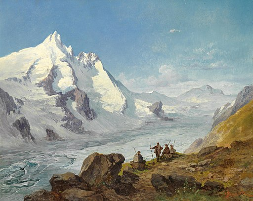 Leopold Munsch - Group of mountain climbers beside