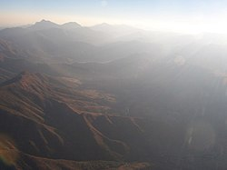 The Lesotho Highlands from the air
