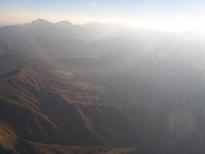 Lesotho Highlands - The Lesotho Highlands from the air