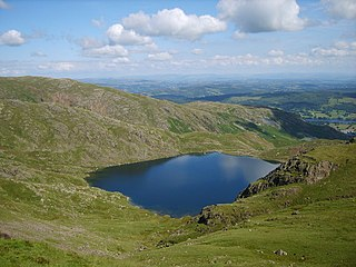 Levers Water lake in Cumbria, England