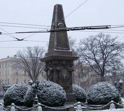 Паметникът на Васил Левски в центъра на София
