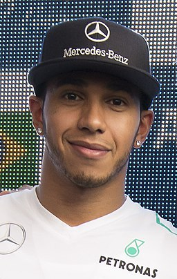 Lewis Hamilton at the Allianz VIP Lounge 2013 (cropped)