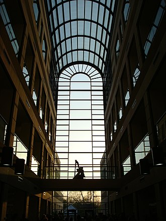 Library of Michigan - The atrium of the Library of Michigan