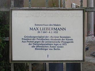 Liebermann Villa - In memory of Liebermann at his Berlin villa