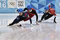 Lillehammer 2016 - Short track 1000m - Men Finals - Daeheon Hwang, Wei Ma, Shaoang Liu, Kiichi Shigehiro and Andras Sziklasi 2.jpg