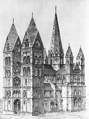 Limburg Cathedral - View from the southwest, 1884