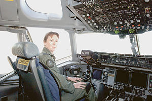 Women in the Australian military - Wing Commander Linda Corbould, the first woman to command a Royal Australian Air Force flying squadron.