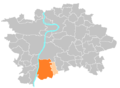 Location map municipal district Prague - Praha 12.PNG