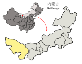 Location of Alxa League within Inner Mongolia (China).png