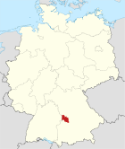 Locator map DON in Germany.svg