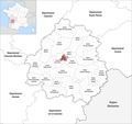 Locator map of Kanton Coulounieix-Chamiers 2019.png