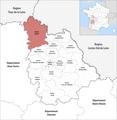 Locator map of Kanton Loudun 2019.png
