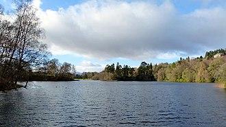 Monzievaird - Loch Monzievaird overlooked by Ochtertyre House
