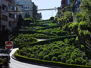 Lombard Street, San Francisco, as seen from th...