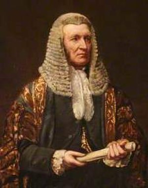 Hugh Cairns, 1st Earl Cairns - Lord Cairns as Lord Chancellor, by Lowes Cato Dickinson.