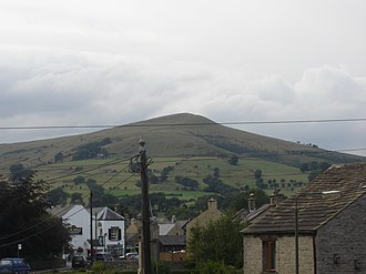 Lose Hill - Lose Hill as seen from Hope village