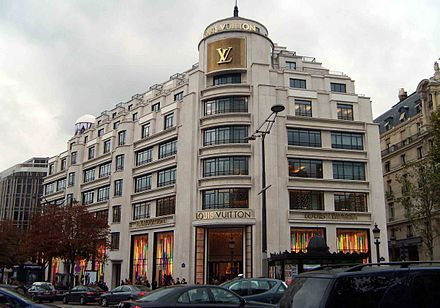Louis Vuitton situated on the famous Champs-Elysees. Louis-Vuitton-Paris.jpg