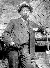 Louis Moe at his beloved Juvlandsæter ca 1910 (21477093489).jpg