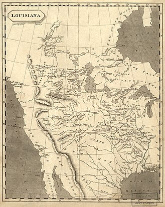 "Louisiana Purchase - 1804 map of ""Louisiana"", edged on the west by the Rocky Mountains"