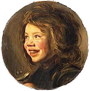 Laughing Boy with Flute - Image: Louvre Child with soap bubble after Frans Hals