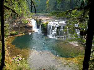 Lewis River (Washington) - Lower Falls of the Lewis River