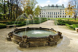 Lubartów - Fountain in the palatial gardens
