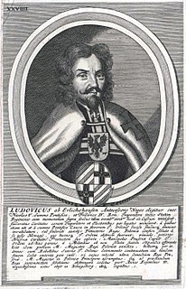 Ludwig von Erlichshausen Grand Master of the Teutonic Knights