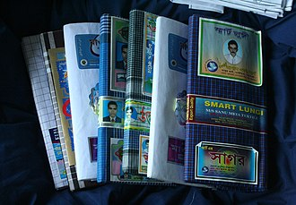 Lungi - A collection of lungis purchased in Dhaka, showing original wrapping