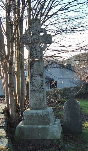 Mary Mackellar - Mary MacKellar's grave stone and monument, Kilmallie Churchyard