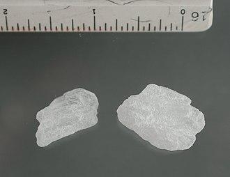 Rolling meth lab - Methamphetamine crystals
