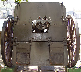 Hotchkiss gun - Hotchkiss 5-barrel revolving cannon, Fort Copacabana