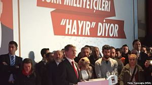 İYİ Party - MHP dissidents hold a 'No' campaign event for the 2017 constitutional referendum