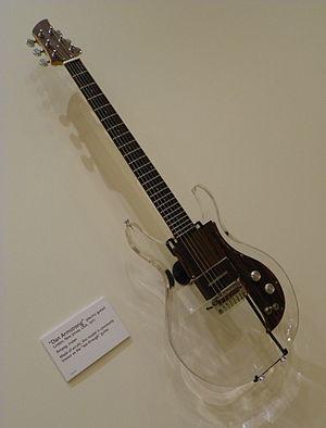"Dan Armstrong - Dan Armstrong Ampeg era ""see-through"" guitar, in the Phoenix Musical Instrument Museum."