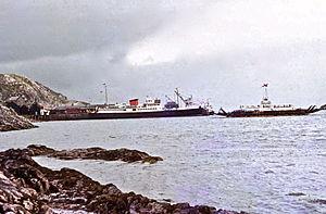 MV Loch Seaforth (1947) - 1971 at Kyle of Lochalsh.