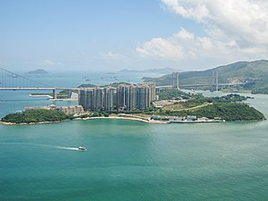 Ma Wan - General view of Ma Wan from the north