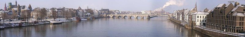 Panorama from the Hoeg Brogk, Saint Servatius Bridge is the bridge you see on the picture