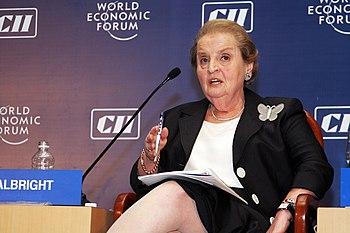 English: Madeleine Albright, World Economic Fo...