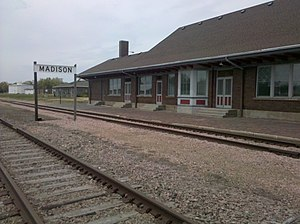 National Register of Historic Places listings in Lake County, South Dakota - Image: Madison station