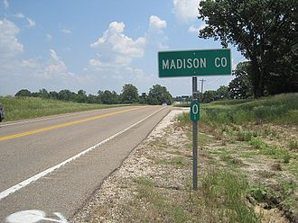 Madison County, Tennessee - Image: Madison County TN sign 001