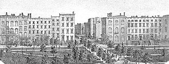 Madison Square and Madison Square Park - The east side of Madison Square Park (1801-c.1886)