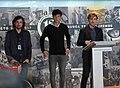 Madrid rinde homenaje al campeón de motociclismo Ángel Nieto (07) - Gelete, Pablo y Hugo Nieto.jpg