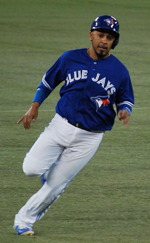 Maicer Izturis - Izturis with the Toronto Blue Jays