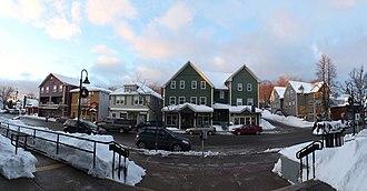 Antigonish, Nova Scotia - Image: Main Street Antigonish Panorama