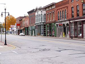 National Register of Historic Places listings in St. Joseph County, Michigan - Image: Main Street Constantine Michigan