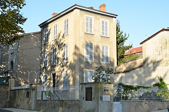 Jean Moulin - Dr. Dugoujon's house, where Moulin was arrested. (The house has been restored since this picture was taken.)