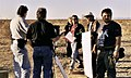 Making of ILLUSION INFINITY, director Roger Steinmann (center), Dee Wallace and crew in Yuma.jpg
