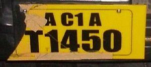 Vehicle registration plates of the Maldives - Vehicle registration plate of the Maldives.