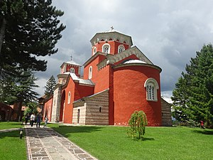 Žiča - Church of the Holy Dormition in the monastery
